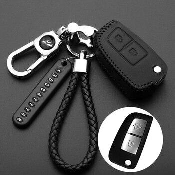 цена на 2 3 4 Button leather Car key Cover For Nissan Qashqai X-trail Murano Maxima Altima Juke QUEST Livina Tiida Nismo Fob Case