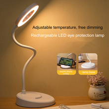 Desk-Lamp Touch-Dimming Rechargeable Phone-Holder Eye-Protection Bedroom Reading Office