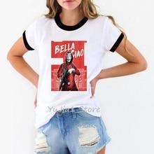 New Money Heist Tshirt The House of Paper La Casa De Papel Camiseta T Shirt Women Summer Casual Dali Mask T-shirt
