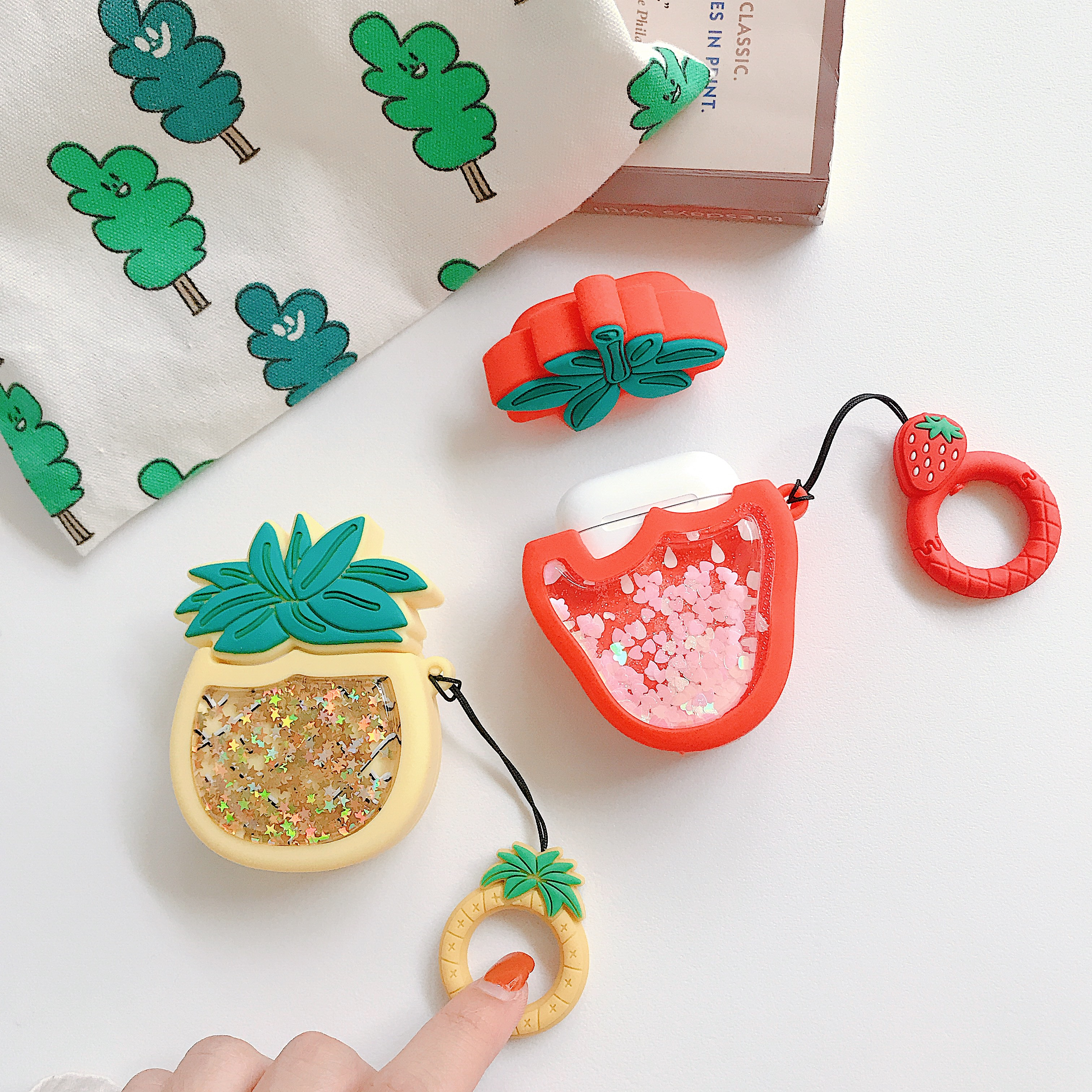 Fruit Bluetooth Earphone Case For Apple Airpods Silicone Headphones Cases For Airpods Case Bluetooth earphone Protective Cover in Earphone Accessories from Consumer Electronics