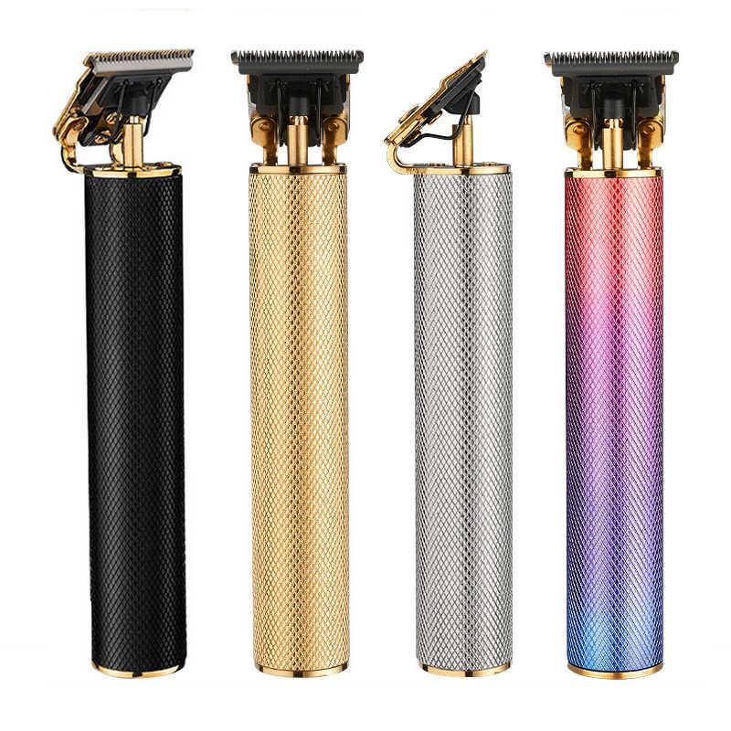 USB Aufladbare T9 Glatze Haar Clipper Elektrische haar trimmer Cordless Rasierer Trimmer 0mm Männer Barber Haar Schneiden Maschine
