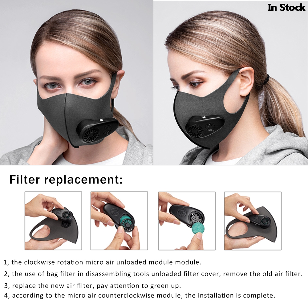 Smart Electric Face Mask Air Purifying Anti Dust Pollution Fresh Air Supply pm2.5 With Breathing Valve Personal Health Care Mask
