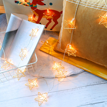Fairy-Lights Led Metal for Festival Halloween Party Wedding-Decoration String Battery-Operated