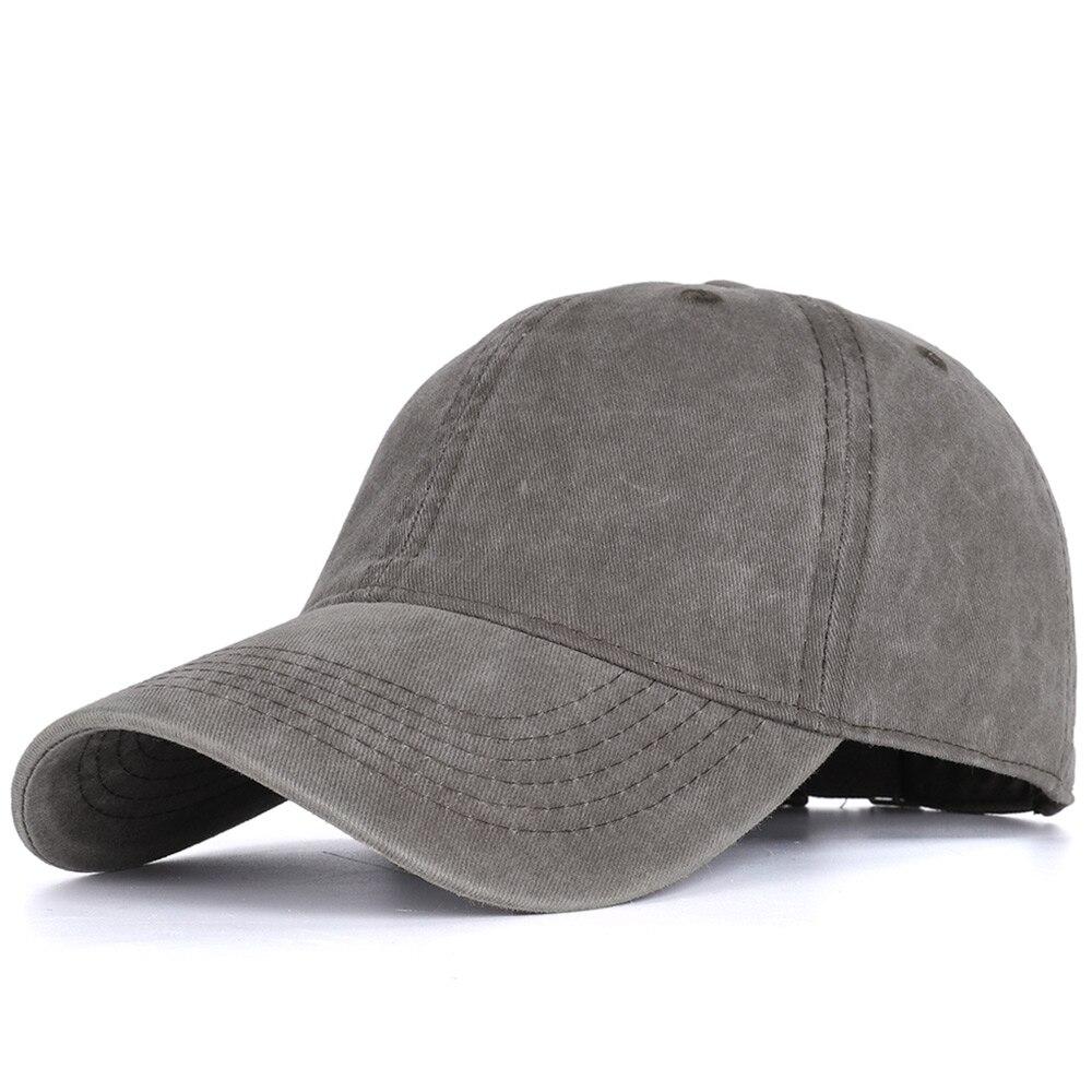 2020 High Quality Men Washed Cotton Baseball Cap Women Vintage Snapback Hat Adjustable Trucker Outdoor Caps Black Dad Hat Bone 14