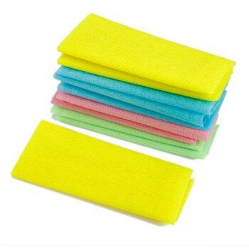 De malla de Nylon baño ducha cuerpo lavado depuradores exfoliar Puff Toalla de cuerpo lavado de cara herramienta de limpieza de utensilios para el baño
