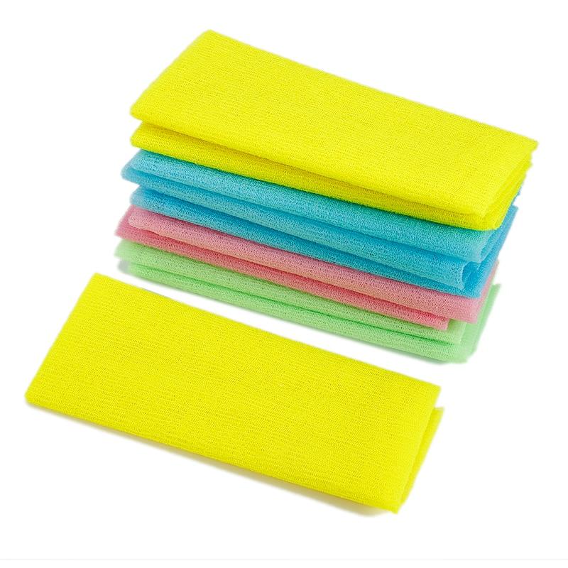 Nylon Mesh Bath Shower Body Washing Scrubbers Exfoliate Puff Scrubbing Towel Cloth Body Face Wash Cleaning Tool Bathroom Tools