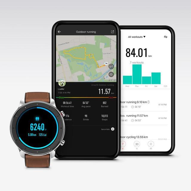 2019 Amazfit GTR 47mm Smart Watch with GPS 5ATM Waterproof 24 Days Battery Life 12 sports mode BluetoothAMOLED Screen
