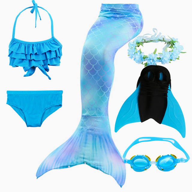 6PCS-High-Quality-Children-Ariel-the-Little-Mermaid-Tail-with-Monofin-Bikini-Bathing-Suit-Costume-Swimmable.jpg_640x640 (2)