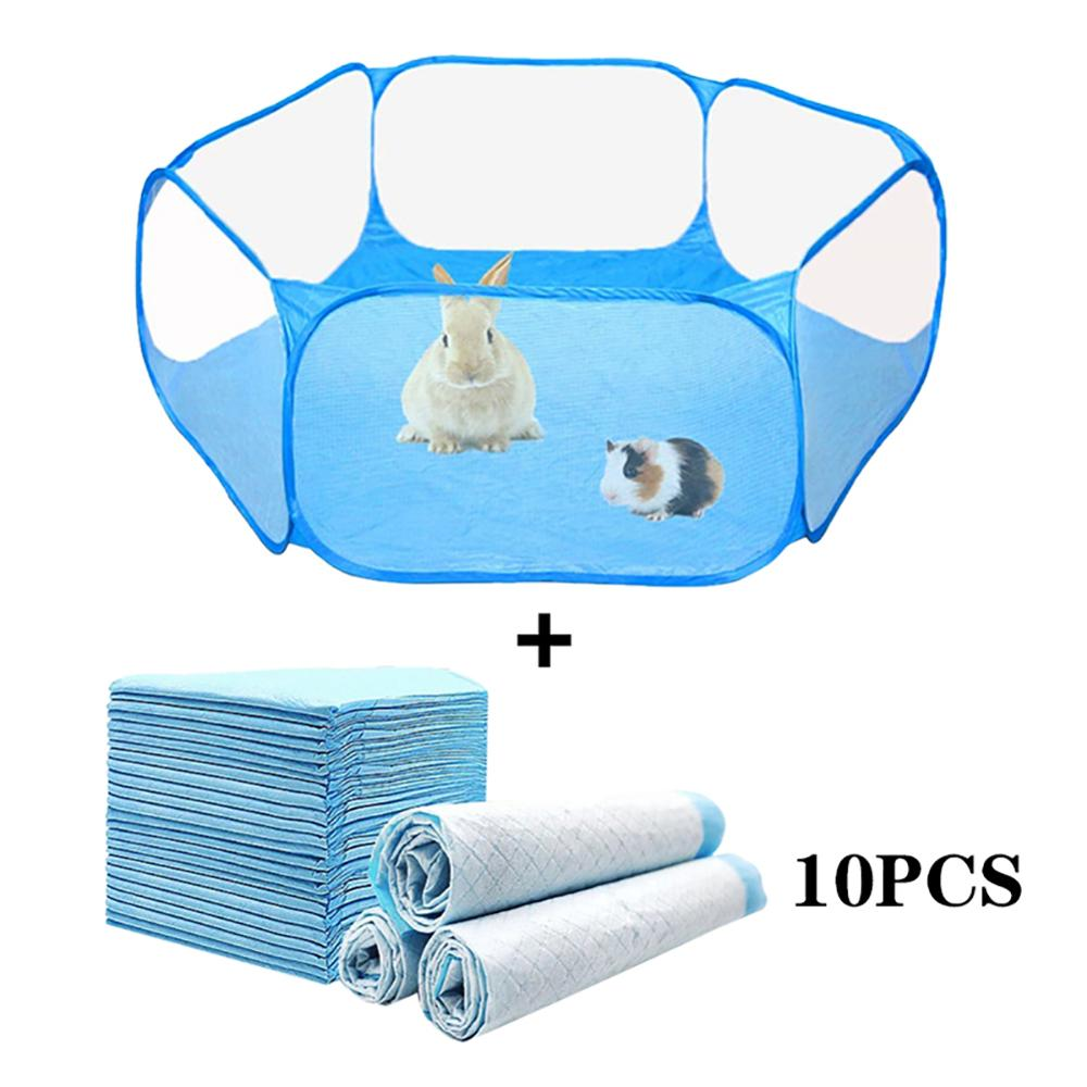 Portable Small Pet Cage Transparent Hedgehog Cage Tent Pet Playpen Pop Open Folding Yard Fence For Dog Hamster Rabbit Guinea Pig