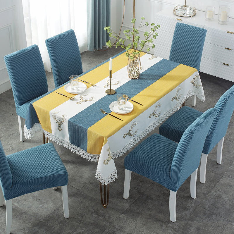 Cotton Rectangular Tablecloths For Kitchen Christmas Decoration Linen Table Cloth 2021 Chic Table Cover Party|Tablecloths|   - AliExpress