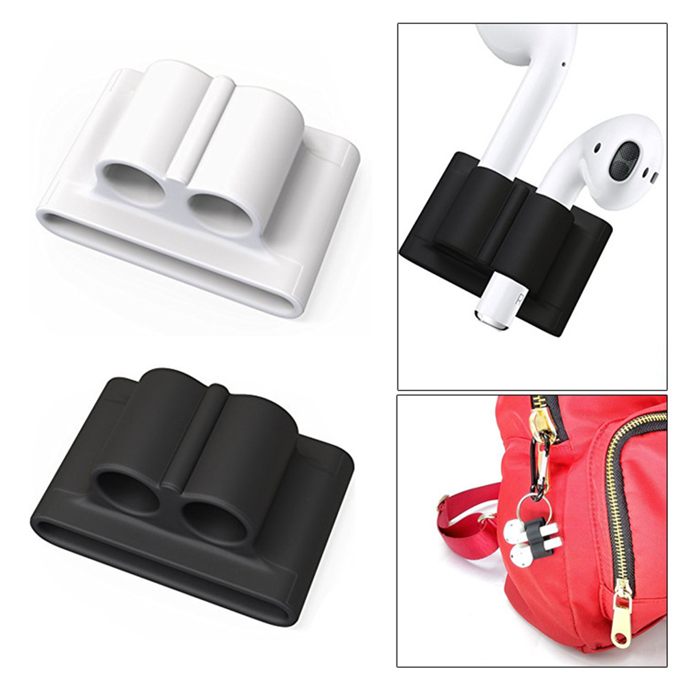 Silicone Headphone Protective Cover Case Stand For AirPods Pro Wireless Bluetooth Headset For AirPods 1 2 Band Stand Holder