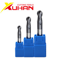 HRC50 2 Flutes Ball Nose End Mill Tungsten Carbide Cutter CNC Router Bit Milling Tool cutting tools R0.5 1mm 2mm 3mm 4mm 6mm