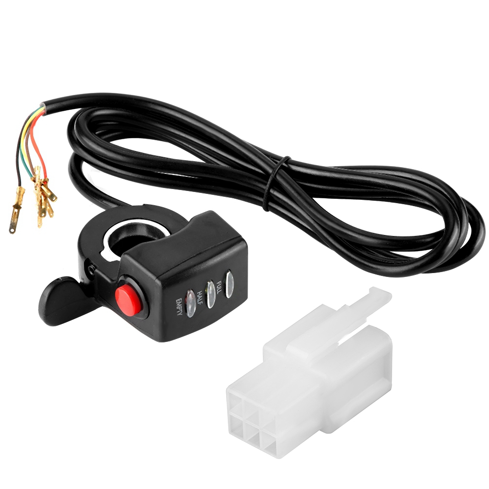 24V Speed Control Twist Thumb Throttle Assembly Supporting Battery Capacity Display Function Fit For E-bike Electric Bike