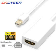 Adaptador convertidor de Cable compatible con Mini DP a HDMI, 1080p HD, macho a hembra, DisplayPort DP a Cable adaptador para Apple Mac Macbook