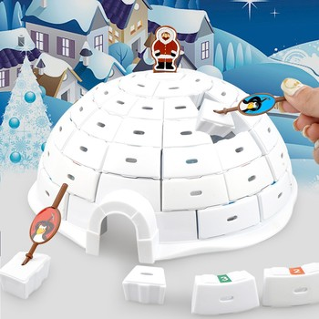Penguin Igloo Parents Interactive Toys Kids Educational Desktop Game Assembly ABS Toy Qwirkle Kids Maths Intelligence Board Game image