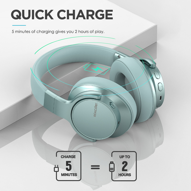 Mixcder E7 Headphone Active Noise Cancelling Bluetooth V5.0 2