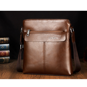 Image 4 - Retro Men Satchels Crossbody Bags Business Small Briefcase Shoulder Bag Man Luxury Brand Casual Messenger Bag Male Pu Leather