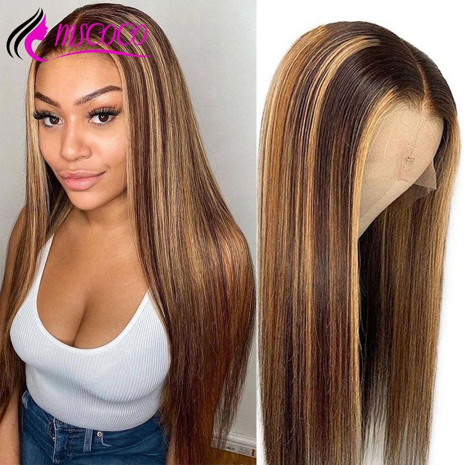 Msco, кудрявый прямой парик, полный шнурок, человеческие волосы, парики, 250 плотность, кружево спереди, человеческие волосы, парики Remy, бразильс...