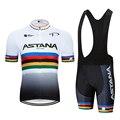 2019 nova astana roupas de ciclismo bicicleta jérsei secagem rápida dos homens roupas verão equipe ciclismo jérsei ciclismo conjunto