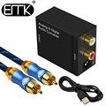 EMK аналоговый в цифровой аудио конвертер L/R RCA в коаксиальный Оптический Toslink SPDIF выходной конвертер адаптер для ТВ Xbox 360 DVD