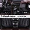 Midoon Lederen Auto Vloermatten Voor Honda Accord 2008 2009 2010 2011 2012 2013 Custom Auto Voet Pads Auto Tapijt cover