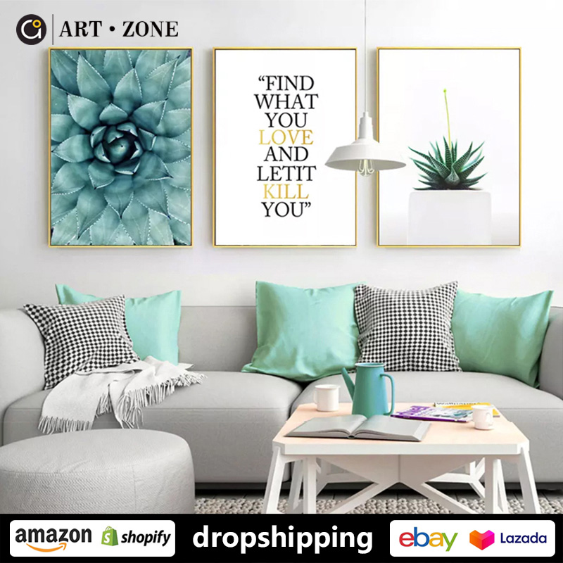 Modern Plant Creativity Posters Wall Art For Living Room Decor For Bedroom Aesthetic Boho Wall Decor Prints Canvas Paintings Painting Calligraphy Aliexpress