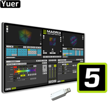 Professional LED Lighting Control Software Madrix 5 Dongle Stage Effect Light 2D 3D Pixel Mapping Software For DJ Disco Bar Club cheap Yuer Stage Lighting Effect DMX Stage Light Professional Stage DJ