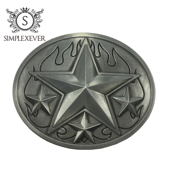 The Five-pointed Star Metal Belt Buckle Head for Men Silver Buckles Nice Jeans Accessories