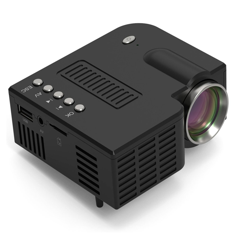 UC28C Portable Projector Wired Same Screen 1080P Full HD Media Player LCD Projector Home Theater Movie Device Digital Projector