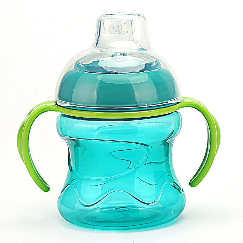 200ML Learn Feeding Drinking Water Milk Straw Handle Bottle Sippy Training Cup Baby Feeding Cup With Handle Cups