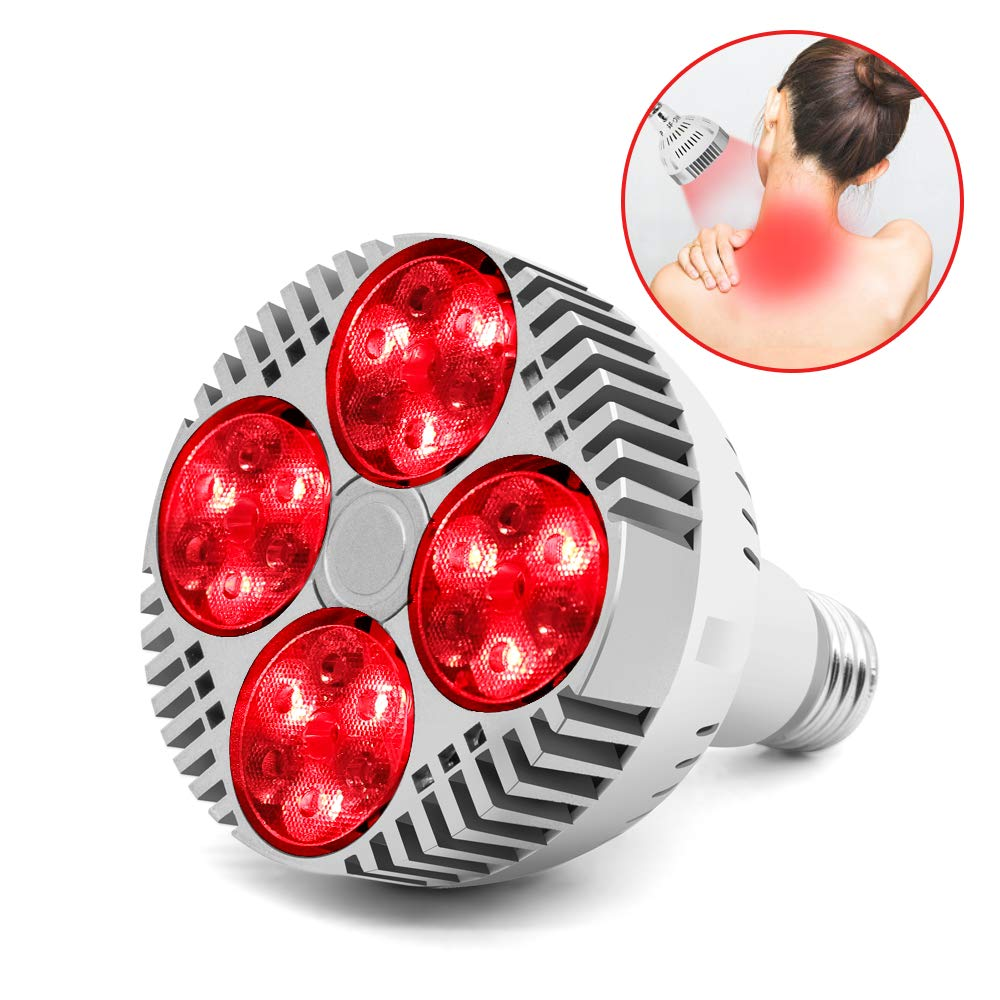 LED Grow Light Bulb E27 48W Deep Red 660nm Near Infrared 850nm For Flowering Fruiting Grow Spectrum Enhancement Light Therapy