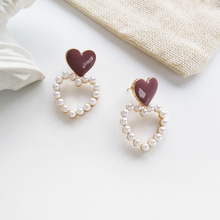 LATS New Heart Shaped Simple Pearl Earrings Cute Dripping Heart Dangle Earrings for Women 2020 Korea Brincos Fashion Jewelry 2018 the new heart pearl pendant fashion simple earrings long pearl heart shaped earrings girl party accessories