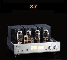 MUZISHARE X7 שכיבות למשוך צינור מגבר KT88 כפול גבוהה לחץ מרה מיישר דיגיטלי מגבר GZ34 260W Phono מגבר קדם