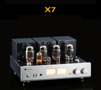 MUZISHARE X7 Push-Pull Tube Amplifier KT88 Double High Pressure Bile Rectifier Digital Amplifier GZ34 260W Phono Preamplifier
