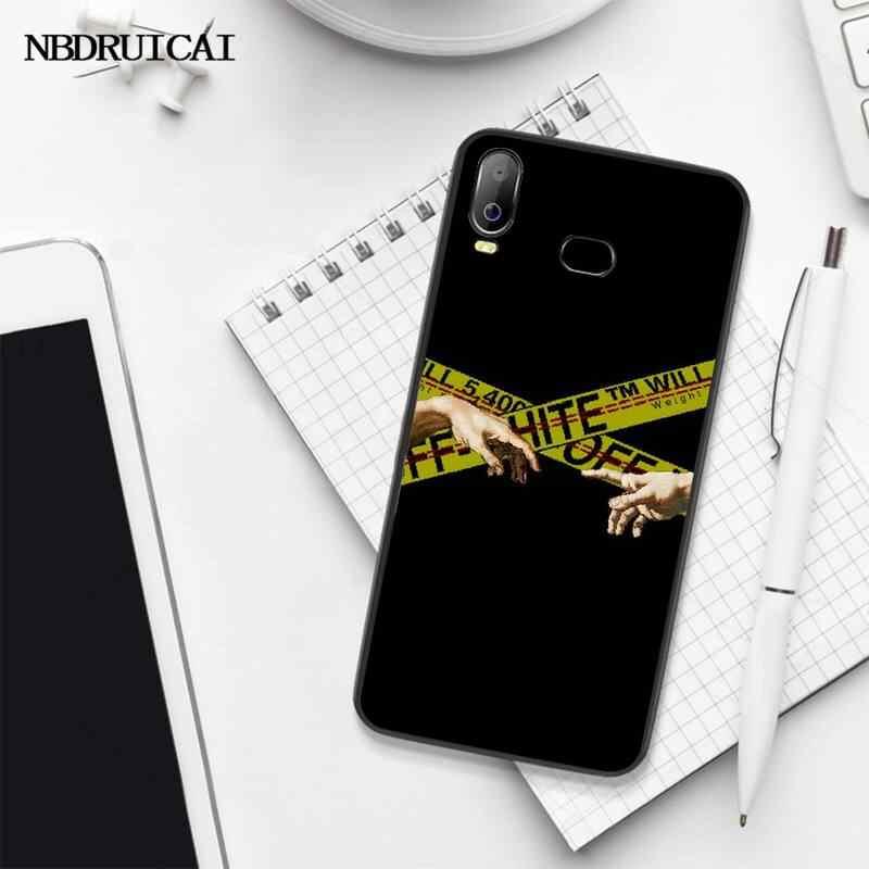 PENGHUWAN kapalı sarı uyarı DIY boyalı Bling telefon kılıfı için Samsung A10 A20 A30 A40 A50 A70 A71 A51 A6 a8 2018