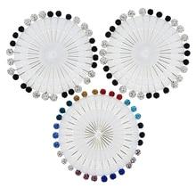 30Pcs/lot Muslim Women Hijab Rhinestone Brooches Hood Scarf Pins Accessories Random Color