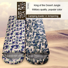 Thickened Outdoor Camping Adult Ultra-Light Envelope Summer Camouflage Down Sleeping Bag Goose Down Splicing Double Sleeping Bag hot selling camping trip envelope type ultra light adult sleeping bag spring and autumn season