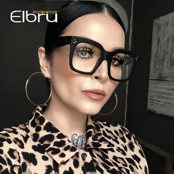 Elbru 2020 Fashion Square duże oprawki okulary kobiety mężczyźni ponadgabarytowe okulary optyczne rama okulary oprawki do okularów dla mężczyzn kobieta tanie i dobre opinie Unisex Z tworzywa sztucznego Stałe 200002143 200002197