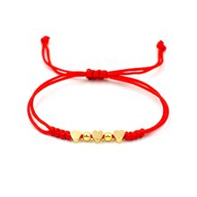 Red Thread String 3 Heart Star Charm Bracelet For Women Gold Lucky Rope Lover Braided Adjustable Bracelets Girl Jewelry(China)