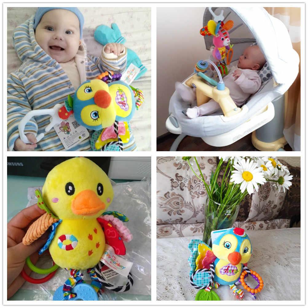 น่ารักเด็กทารกแรกเกิดรถเข็นเด็กแขวนของเล่น Teether Baby Rattle โทรศัพท์มือถือตุ๊กตาสัตว์ Pram ของเล่น Early การศึกษาเด็กผู้หญิงเด็ก