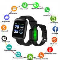 D13 montres intelligentes bracelet intelligent montre de fréquence cardiaque 116plus hommes femmes montres de sport bande intelligente étanche Smartwatch