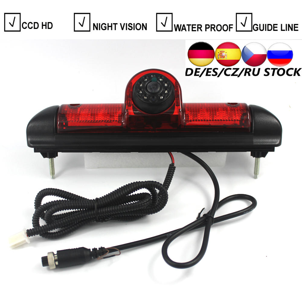 Car LED Brake Light Backup Camera For Citroen JUMPER III Fiat DUCATO X250 Peugeot BOXER III Parking Reverse Camera 7 Inch Screen