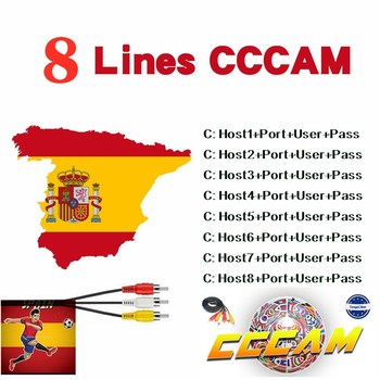 spain HD cable 1 Year CCCams for Satellite tv Receiver 8 Clines WIFI FULL HD DVB-S2 Support Europe cline cccam Server