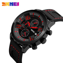 SKMEI Sports Mens Watches Top Brand Luxury Multi-Dial Watch Men Waterproof Calendar Quartz Wristwatches relogio masculino 9153