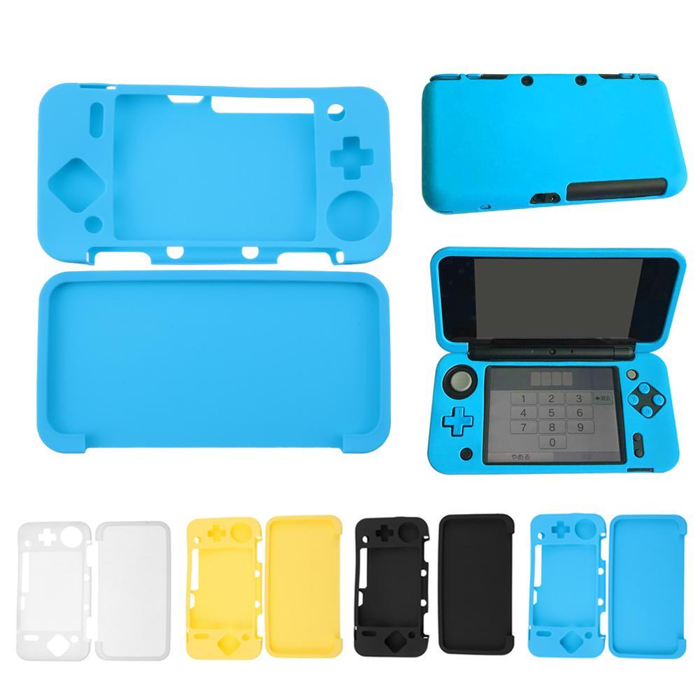 Ударопрочный силиконовый чехол, кожаный чехол для новой игровой консоли Nintendo 2DS XL /2DS LL, Сменные аксессуары, 3 цвета