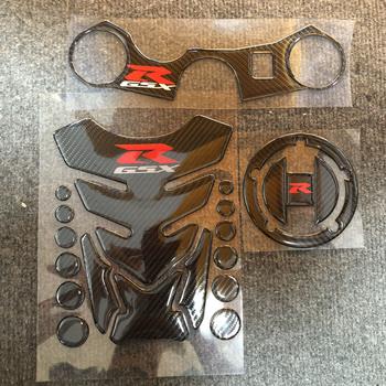 3D z włókna węglowego zbiornik paliwa do motocykla Pad naklejka na korek zbiornika paliwa dla Suzuki GSXR 600 750 K6 K8 2006 2007 2008 2009 2010 100 nowy tanie i dobre opinie OLPAY carbon fiber Naklejki i naklejki 16cm 22cm