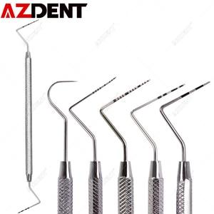 1 pc Azdetn Dental Stainless Steel Periodontal Probe With Scaler Explorer Instrument Tool Endodontic Equipment Material Probe