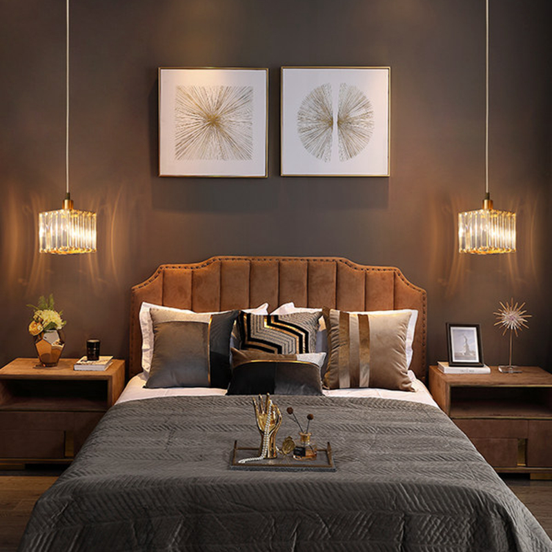 Nordic Kupfer Esszimmer Anhänger Licht Schlafzimmer Loft Stil Bar Mini Suspension Leuchte Licht Leuchte Mit E27 12W LED birne - 4