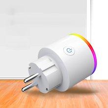 Умный штекер Wifi розетка телефон приложение голосовое дистанционное управление домашней автоматизации таймер переключатель настенный штекер с RGB светодиодный свет