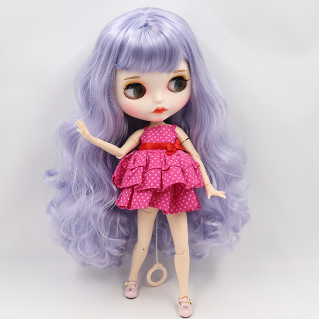 ICY Fortune Days factory blyth doll 1/6 joint body New matte face Blue mix purple hair DIY sd gift toy